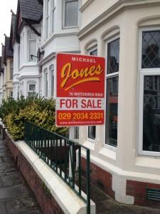 Estate Agent Sign Michael Jones Cardiff
