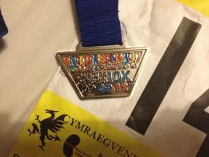 Cardiff 10k medal