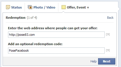 Facebook offers online redemption