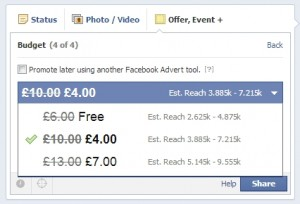 Facebook offers budget setting